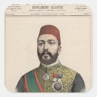 Twefik Pasha  Khedive of Egypt Square Sticker