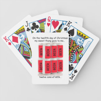 Twelfth Day Redneck Christmas Bicycle Playing Cards