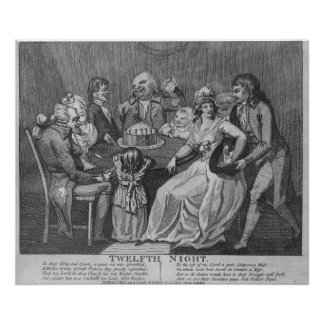Twelfth Night, 1794 Poster