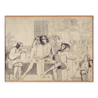 Twelfth Night, c.1850 Postcard