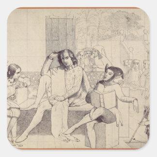 Twelfth Night, c.1850 Square Sticker