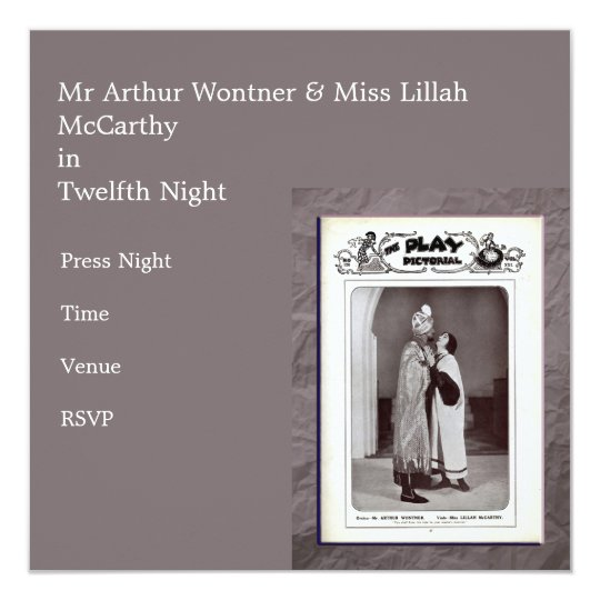 Twelfth Night Invitation