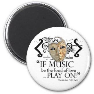 Twelfth Night Music Quote 2 Inch Round Magnet