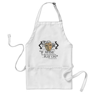 Twelfth Night Music Quote Aprons