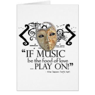 Twelfth Night Music Quote Card
