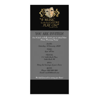 Twelfth Night Music Quote (Gold Version) Card
