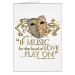 Twelfth Night Music Quote (Gold Version) Stationery Note Card