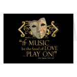 Twelfth Night Music Quote (Gold Version) Cards