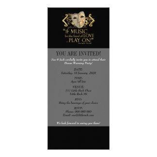 Twelfth Night Music Quote Gold Version Personalized Invitation