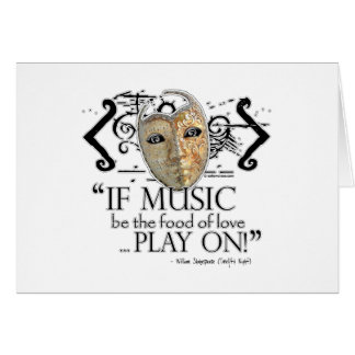 Twelfth Night Music Quote Greeting Card
