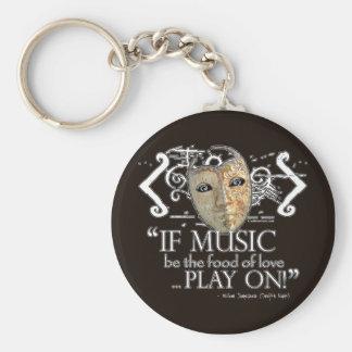 Twelfth Night Music Quote Keychain