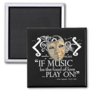 Twelfth Night Music Quote Magnet