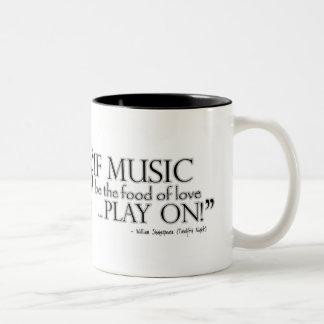Twelfth Night Music Quote Mug