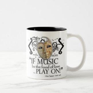 Twelfth Night Music Quote Coffee Mugs