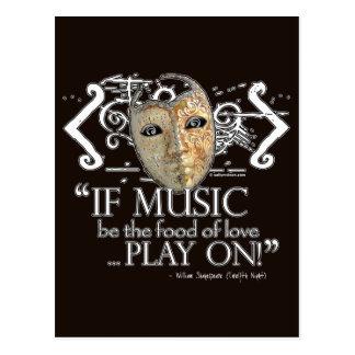 Twelfth Night Music Quote Postcard