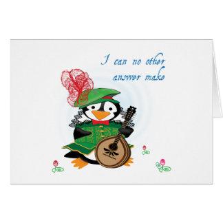 Twelfth Night Penguin Card