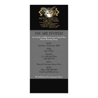 Twelfth Night Quote (Gold Version) 4x9.25 Paper Invitation Card