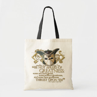 Twelfth Night Quote (Gold Version) Budget Tote Bag