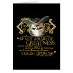 Twelfth Night Quote (Gold Version) Greeting Card