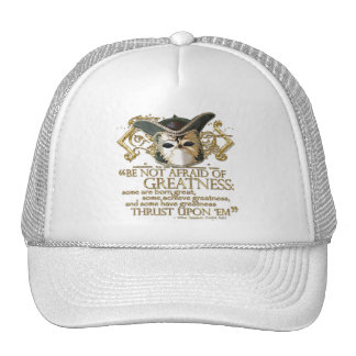 Twelfth Night Quote Gold Version Hats