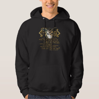 Twelfth Night Quote (Gold Version) Hoodie