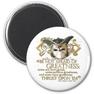Twelfth Night Quote (Gold Version) Refrigerator Magnet