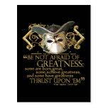 Twelfth Night Quote (Gold Version) Postcard