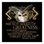 Twelfth Night Quote (Gold Version) Poster