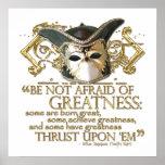 Twelfth Night Quote (Gold Version) Print