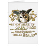 Twelfth Night Quote (Gold Version) Stationery Note Card