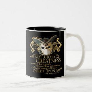 Twelfth Night Quote (Gold Version) Two-Tone Coffee Mug