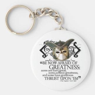 Twelfth Night Quote Keychain