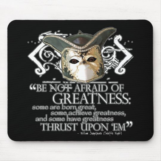 Twelfth Night Quote Mouse Pad