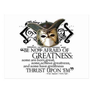 Twelfth Night Quote Postcard