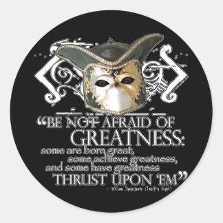Twelfth Night Quote Sticker