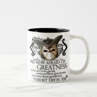 Twelfth Night Quote Two-Tone Coffee Mug