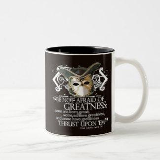 Twelfth Night Quote Two-Tone Coffee Mug