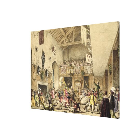 Twelfth Night Revels in the Great Hall, Haddon Hal Canvas Print