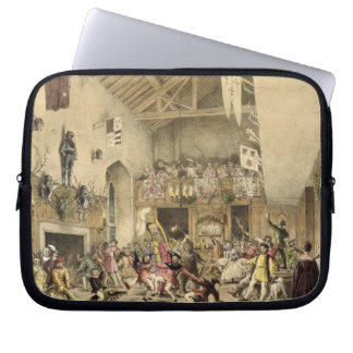 Twelfth Night Revels in the Great Hall, Haddon Hal Laptop Computer Sleeves