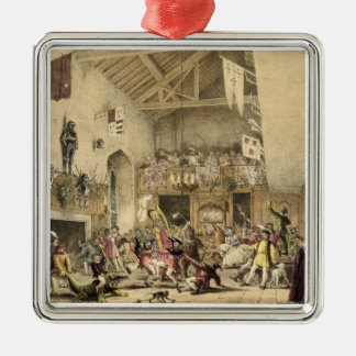 Twelfth Night Revels in the Great Hall, Haddon Hal Metal Ornament