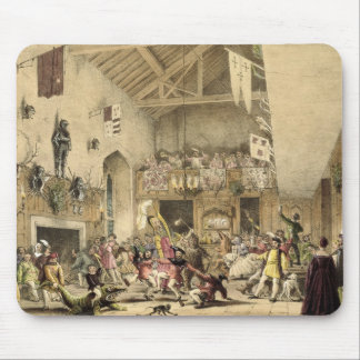 Twelfth Night Revels in the Great Hall, Haddon Hal Mouse Pad