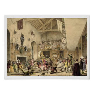 Twelfth Night Revels in the Great Hall, Haddon Hal Poster