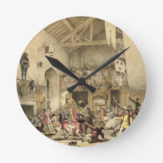 Twelfth Night Revels in the Great Hall, Haddon Hal Round Clock