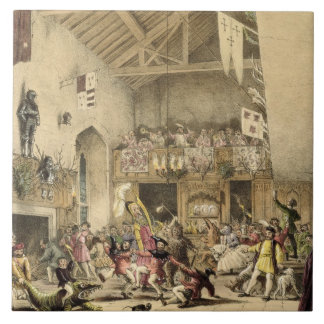 Twelfth Night Revels in the Great Hall, Haddon Hal Tile