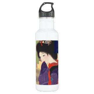 Twelve Aspects of Fine Women, Noren Terukata Ikeda 24oz Water Bottle