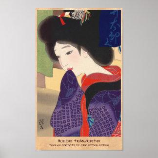 Twelve Aspects of Fine Women, Noren Terukata Ikeda Poster