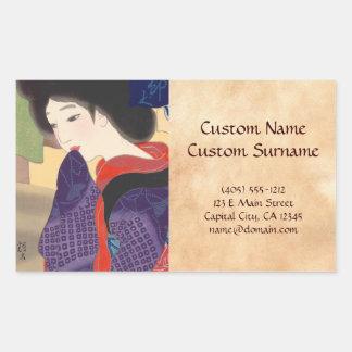 Twelve Aspects of Fine Women, Noren Terukata Ikeda Rectangular Sticker