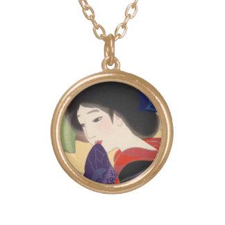 Twelve Aspects of Fine Women, Noren Terukata Ikeda Round Pendant Necklace