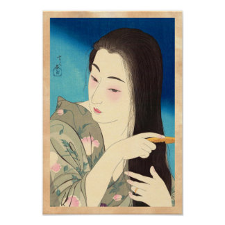 Twelve Aspects of Women, Hair Combing Kotondo Poster