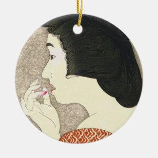 Twelve Aspects of Women, Lipstick Torii Kotondo Ceramic Ornament